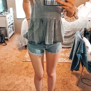 Hollister short short jean shorts